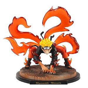 Naruto Uzumaki Transformação Raposa 4 caudas - Naruto Clássico