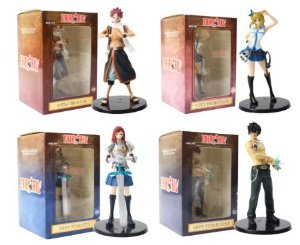 Kit 4 Action Figures Estátua Fairy Tail - Animes Geek