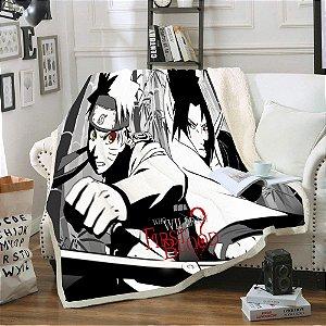 Cobertor Manto Naruto e Sasuke - Naruto Shippuden