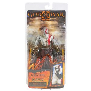 Action Figure Kratos Flaming Blades God Of War - Neca