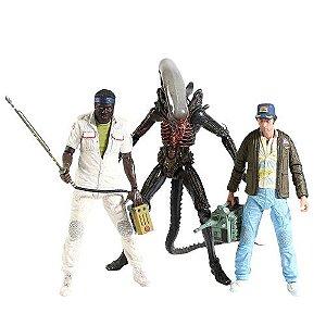Kit com 3 Action Figures Alien 40 Th Ver. I - Neca