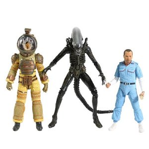 Kit com 3 Action Figures Alien 40 Th Ver. II - Neca