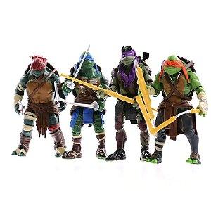 Kit com 4 Bonecos Tartarugas Ninja Articulados