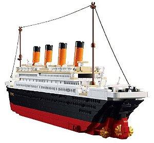 Navio Titanic com 60 cm de comprimento 1100 peças - Blocos de Montar