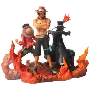 Diorama 3 Figures One Piece Luffy Sabo Portgas - Animes Geek