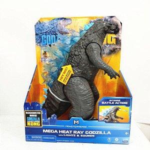 Boneco Godzilla Mega Heat Ray com luzes e Som Kong Vs Godzilla - Playmates