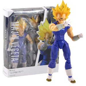 Boneco Majin Vegeta Action Figure Dragon Ball Articulado