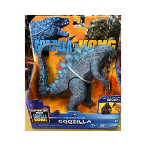 Boneco Godzilla 2021 Radio Tower Ver. Battle Damage Reveal Lançamento Kong Vs Godzilla - Original Playmates