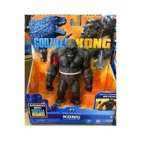 Boneco King Kong 2021 Ver. Battle Damage Reveal Lançamento Kong Vs Godzilla - Original Playmates