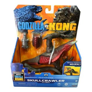 Boneco Skullcrawler 2021 Ver. Battle Damage Reveal Lançamento Kong Vs Godzilla - Original Playmates