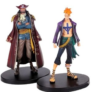 Kit 2 Figuras One Piece Marcos Vs Gol D. Roger - Animes Geek