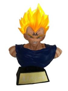Busto Majin Vegeta Com LED Dragon Ball Z - Animes Geek