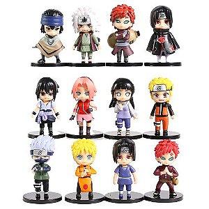 Naruto Shippuden Kit 12 personagens alta qualidade 8 cm - Animes Geek