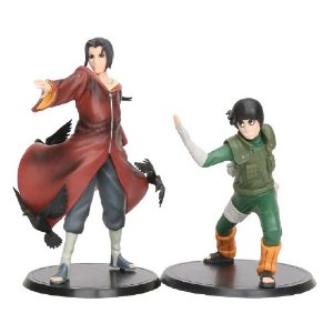 Kit 2 personagens Naruto Shippuden Itachi e Rock Lee - Animes Geek