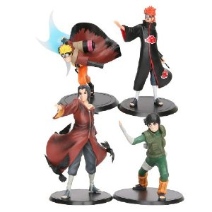Kit 4 Personagens Naruto Shippuden 15 cm - Animes Geek