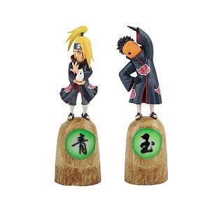 Kit 2 personagens Akatsuki Deidara e Tobi - Naruto Shippuden