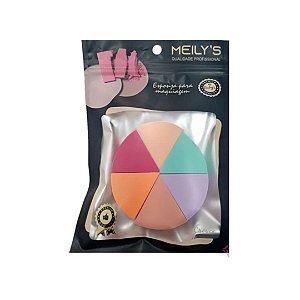 Kit 6 Esponjas Para Maquiagem Meilys MAC-239