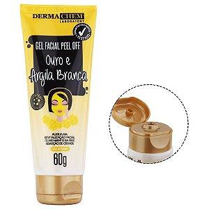 Gel Facial Peel Off Ouro e Argila Branca Dermachem