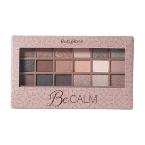 Paleta De Sombras 18 Cores Be Calm Ruby Rose Hb-9928