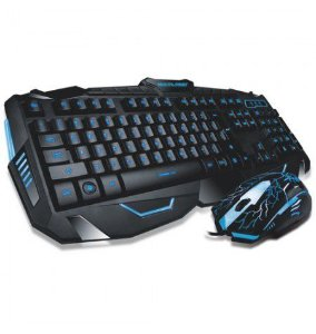 Kit gamer luminoso Teclado + mouse V-100