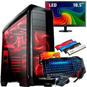 CPU Pc Gamer Completo Amd A47300 8gb /1tb Monitor 18,5