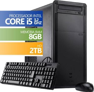 Computador Desktop Infoteclan Intel Core i5 8GB HD 2TB