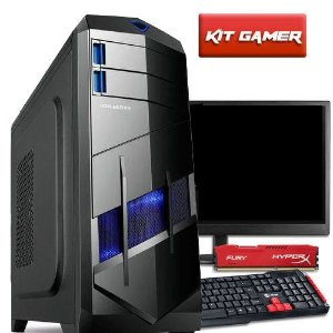 Computador Gamer Com Monitor 18,5  Amd Quad Core A8 7600 8GB Hyperx HD 1TB Radeon R7