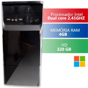 Computador Intel Dual Core 4gb Hd 320gb Hdmi Infoteclan  Triumph Business Desktop
