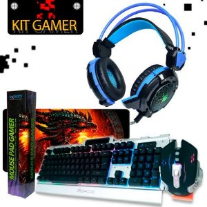 kit Gamer Headfone Soldado GH - X30+TECLADO+ MOUSE PAD