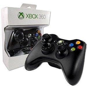 Controle Xbox 360 sem fio Preto original