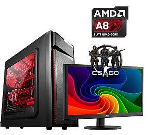 PC GAMER INFOTECLAN A8 3.8 GHZ 8 GB HD 500 GB Monitor  18.5 LED