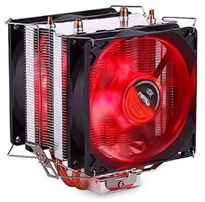 Cooler Universal Intel/Amd Dx-9100D 130W Led Verm. - Dex tufão