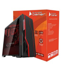 Gabinete Gamer BG-009 Black LED RGB