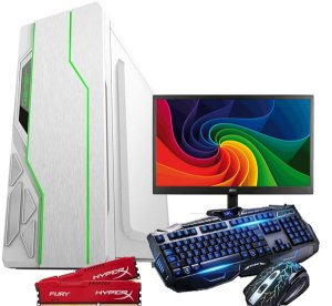 CPU Pc Gamer Completo Amd A47300 8gb /1tb Monitor 18,5 COMPLETO GAB LED RGB  white