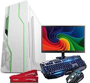 CPU Pc Gamer Completo Amd A47300 8gb /1tb Monitor 18,5 COMPLETO GAB LED RGB  white