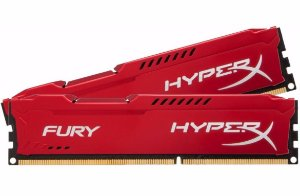 Memória Kingston HyperX FURY 4GB 1600Mhz DDR3 CL10 RED Series