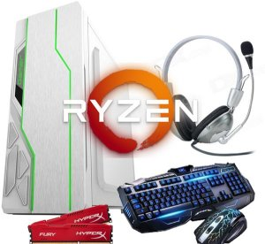 Pc gamer ryzen 3 2200G 4GB DDR4 HD 1TB FONTE 400 WATTS REAL White