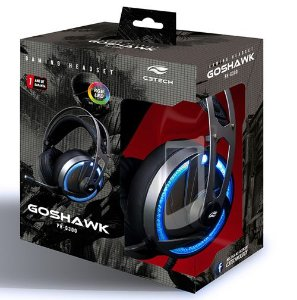 HEADPHONE GAMER C3-TECH GOSHAWK PH-G300 LED RGB