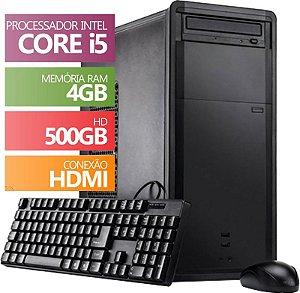 Computador Intel Core i5 3.2ghz, 4GB DDR3, 500GB, HDMI FullHD, áudio 5.1