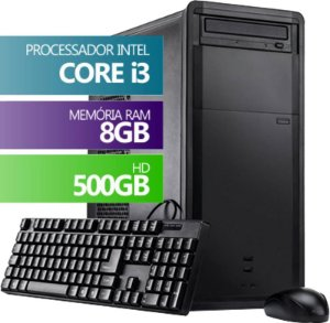 COMPUTADOR DESKTOP INFOTECLAN INTEL CORE I3 8GB DDR3 hdmi HD 500GB BUSINESS