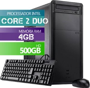 Cpu Computador Desktop Intel Core 2 Duo 4gb Hd 500gb Wi-fi