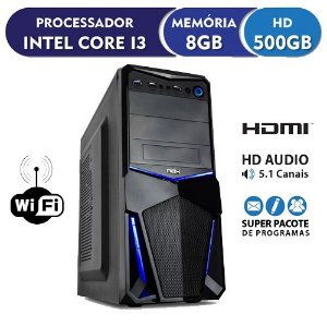 Pc Cpu Intel Core I3+8gb Ram+hd500gb +wi Fi Limpa Estoque infoteclan