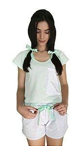 Conjunto Pijama Feminino Chiclete Verde