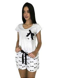 Conjunto Pijama Feminino Olhos Branco