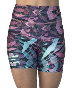 Shorts Vivie Fitness Azul e Rosa