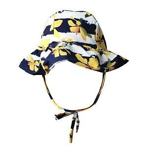 Chapéu de Praia Infantil Kids Orquídea Amarelo