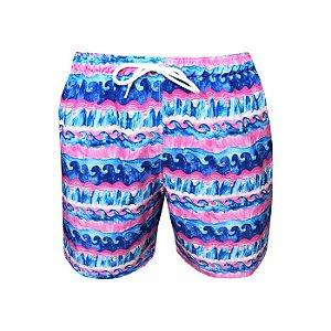 Shorts Bermuda Masculina de Praia Miami Rosa