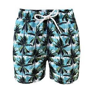 Shorts Bermuda de Praia Infantil Coqueiro Verde