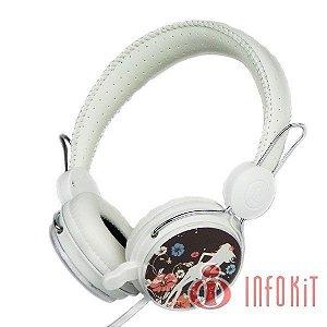 Fone de Ouvido Hipermusic com Microfone Estéreo HM-670MV Fashion Infokit