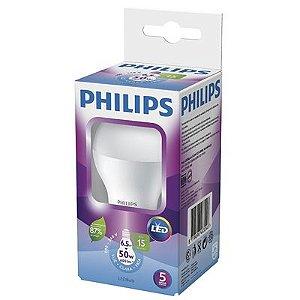 Lâmpada LED E-27 Bulbo 7W Bivolt 6500K 15000H Luz Branca Fria Philips